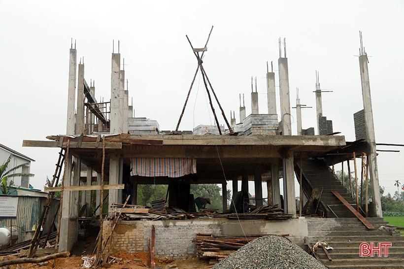 Đẩy nhanh tiến độ, đảm bảo chất lượng nhà tránh lũ cộng đồng ở Hà Tĩnh
