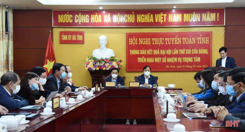 Hà Tĩnh thông báo kết quả Đại hội XIII của Đảng bằng hình thức trực tuyến