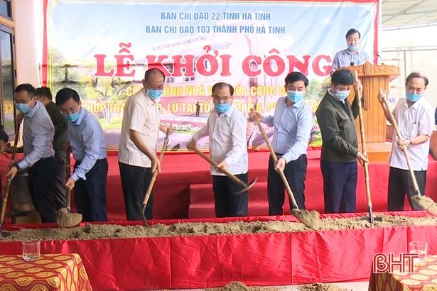 TP Hà Tĩnh xây dựng nhà văn hóa cộng đồng kết hợp tránh lũ thứ 2 tại phường Hà Huy Tập