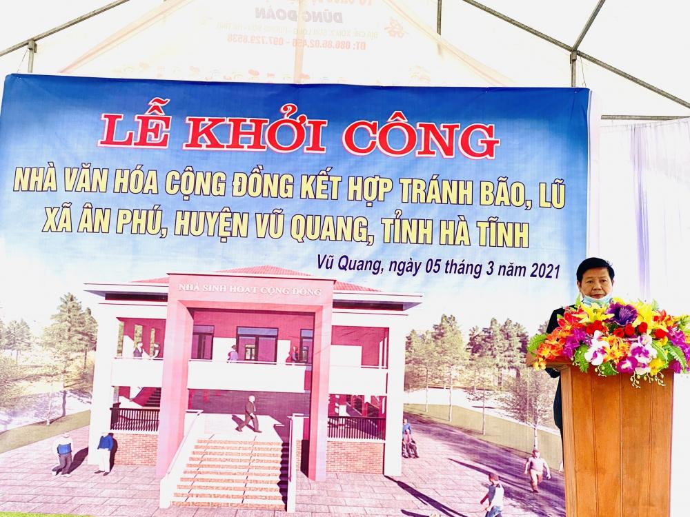 Huyện Vũ Quang khởi công xây 2 nhà văn hóa cộng đồng kết hợp với tránh bão, lũ.