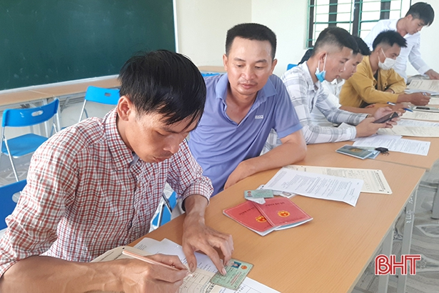950 lao động Hà Tĩnh đăng ký thi tiếng Hàn ngành ngư nghiệp theo chương trình