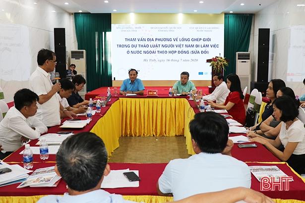 Đưa nội dung bình đẳng giới vào dự thảo Luật Người Việt Nam đi làm việc ở nước ngoài theo hợp đồng