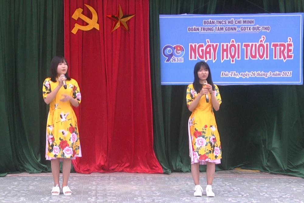 Trung tâm GDNN-GDTX Đức Thọ: Tổ chức Ngày hội tuổi trẻ nhân dịp kỷ niệm 90 năm ngày thành lập Đoàn TNCS Hồ Chí Minh