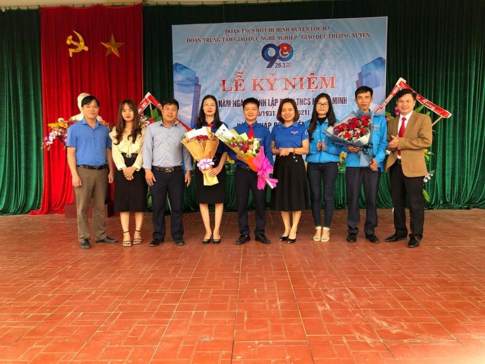 Trung tâm GDNN-GDTX Lộc Hà: Tổ chức các hoạt động kỷ niệm 90 năm ngày thành lập Đoàn TNCS Hồ Chí Minh