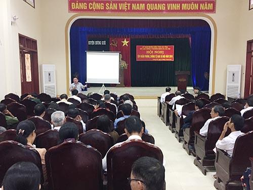 Trên 200 cán bộ cơ sở huyện Hương khê tập huấn nghiệp vụ phòng chống tệ nạn xã hội
