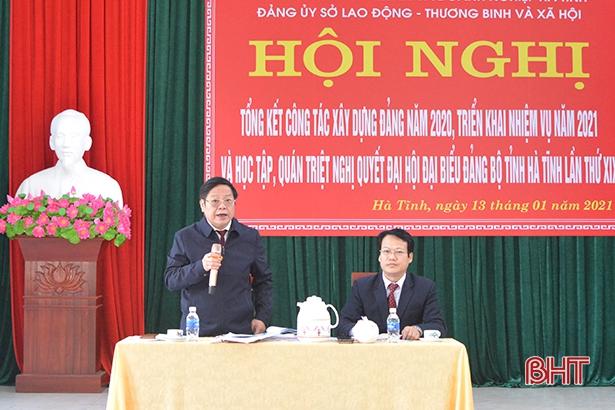 Đảng bộ Sở LĐ-TB&XH Hà Tĩnh triển khai đưa Nghị quyết Đại hội tỉnh Đảng bộ vào cuộc sống