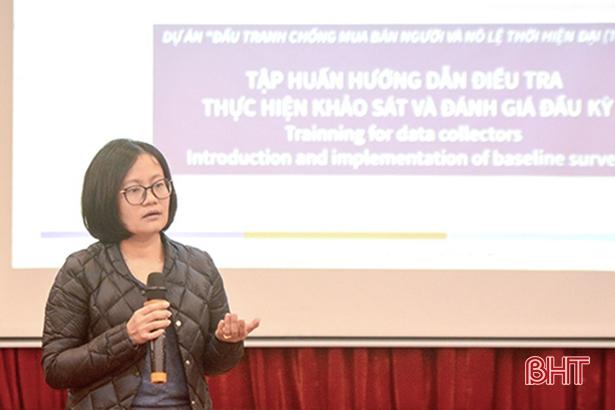Hướng dẫn điều tra chống mua bán người và nô lệ thời hiện đại tại Hà Tĩnh