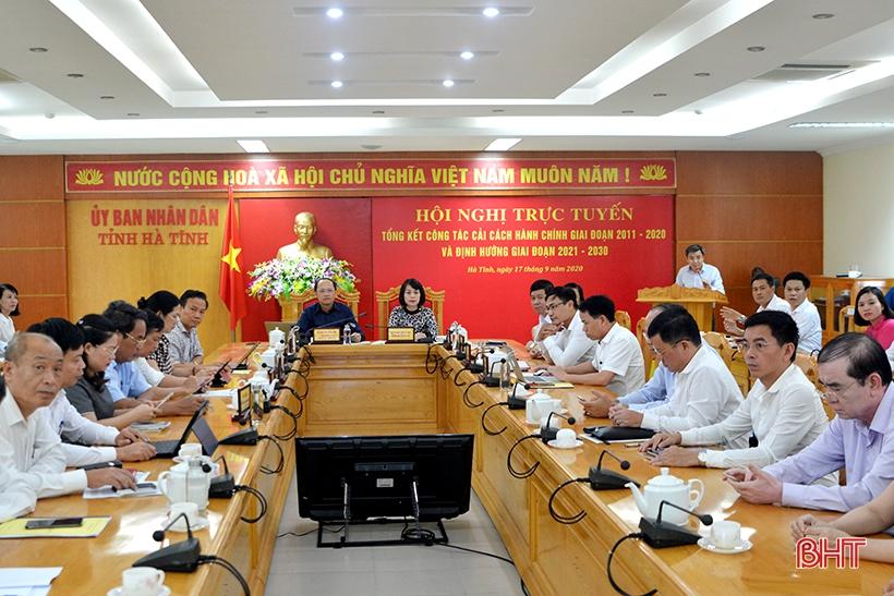 Phấn đấu đưa chỉ số cải cách hành chính của Hà Tĩnh vào top 10 tỉnh đứng đầu cả nước