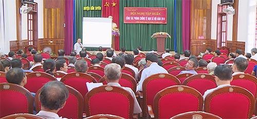 Cẩm Xuyên tập huấn nghiệp vụ phòng chống tệ nạn xã hội